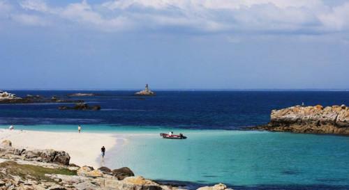 Dans les eaux turquoise des îles Glénan